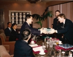 Exchanging gifts with JCI Japan National President - 1993